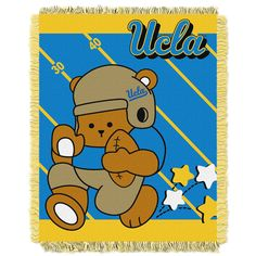 UCLA Bruins NCAA Triple Woven Jacquard Throw Fullback Baby Series 36x4