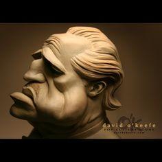 The Don - Sculpture Unique Zbrush Character, 3d Model Character, Character Modeling, Character Art, Funny Caricatures, Celebrity Caricatures, Celebrity Drawings, Anatomy Sculpture, Sculpture Head