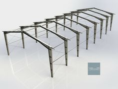 Steel Structural Designing Engineering Detailing Services Analysis and Ideas Layout at Birmingham Metal Garage Buildings, Steel Buildings, Rebar Detailing, Big Modern Houses, Structural Model, Truss Structure, Roof Truss Design, Factory Architecture, Building Foundation