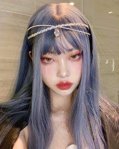 Cute Makeup, Pretty Makeup, Makeup Looks, Hair Makeup, Doll Eye Makeup, Edgy Makeup, Hairstyles With Bangs, Cool Hairstyles, Kawaii Hairstyles