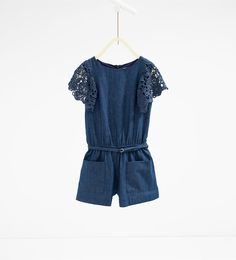 Guipure lace indigo jumpsuit-Jumpsuits-DRESSES AND JUMPSUITS-GIRL | 4-14 years-KIDS | ZARA United States