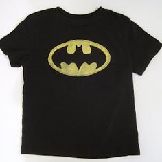 DIY batman shirt for boys