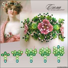 Scheme leaflet from Victoria Rumiantseva - August 2012 - Plans - Beads not only a beautiful hobby . Beading Projects, Beading Tutorials, Beaded Jewelry Patterns, Beading Patterns, Bead Jewellery, Jewlery, Beads And Wire, Beaded Flowers, Bead Art