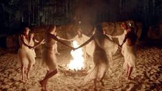 Hold a Beltane Bonfire Ritual Beltane, Witches Dance, Witch Rituals, Yennefer Of Vengerberg, Season Of The Witch, Sabbats, Witch Aesthetic, Foto Art, Instagram