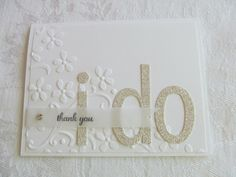Elegant Wedding I DO Thank You  Silver by #PrettyOnPaperShop, $5.00 | wedding thank you card | stampin up etsy shop, Jennifer Burns, Demonstrator