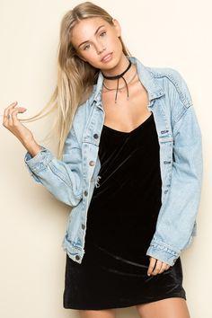 Brandy ♥ Melville | Jackie Velvet Dress - Dresses - Clothing