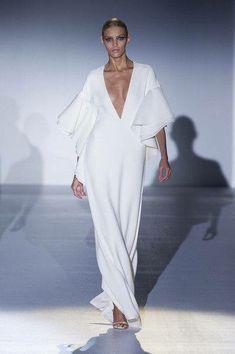 Vestido blanco escote V