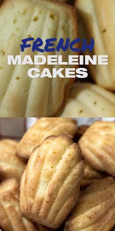 Best Madeleine Recipe [French] with orange blossom water. You can flavor these shell-shaped cookie cakes with honey or almond flour or essence if you prefer! Great breakfast idea or simple quick cake to take away. www.MasalaHerb.com Madeline Cookies Recipe, Madelines Recipe, Baking Recipes, Cookie Recipes, Great Breakfast Ideas, French Cookies, French Dessert Recipes, Quick Cake, Twisted Recipes