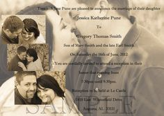 5x7 Custom Photo Wedding Invitations Print as many as you want