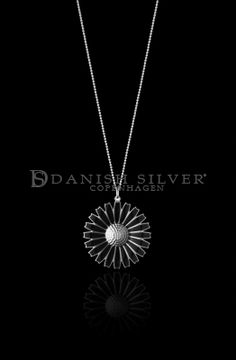 Georg Jensen Black Daisy Pendant 43mm