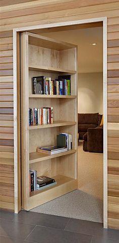 Modern bookcase door hides your secret room (pictures)