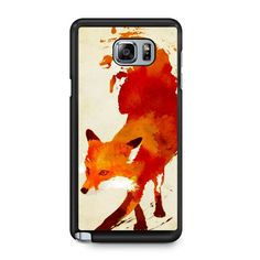 Fox Watercolor Samsung Galaxy Note 5 Case