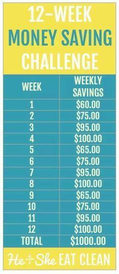 12 week saving plan