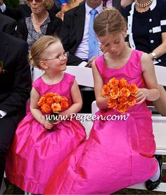PEGEEN CLASSIC STYLE 318 Custom Silk flower girl dress with a pleated silk sash that you tie in back. more details at: http://www.flowergirldresscompany.com/2014/06/flower-girl-dress-of-the-month-for-august-2013-style-318-and-jr-bridesmaids-dress-style-320/ and color and options at http://www.pegeen.com/flower-girl-dress-style-318.html and http://www.pegeen.com/flower-girl-dress-style-320.html #weddings #pinkweddings #flowergirldresses