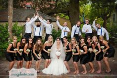 Tell the groomsmen to do this before you take the picture without the girls knowing.
