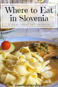 What makes Slovenian food truly unique is its fresh ingredients. Whether you are eating a salad or a hearty stew, you will taste and feel the freshness of your food in every bite. As you make your way around the country and sample authentic Slovenian food, don't miss these 5 best restaurants in Slovenia. Click through now to find out what they are, or pin for later!