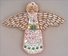 Pink Angel, by Rah Rivers  Ceramic Collages