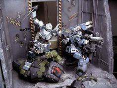 1/100 Gunpla Diorama: The Last Gate. Work by Erix93 Full Photoreview, Info