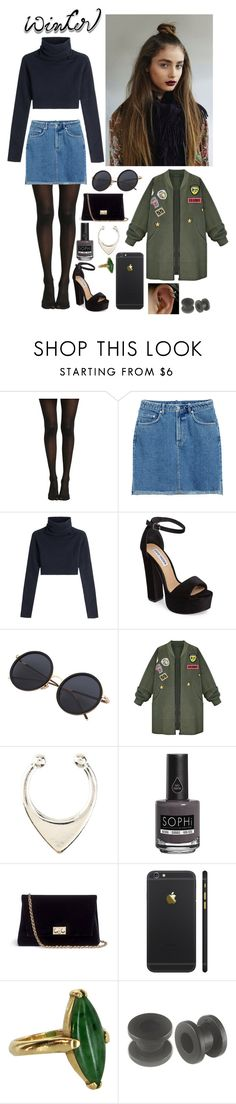 """""""city life"""" by mdj420 ❤ liked on Polyvore featuring Valentino, Steve Madden, WithChic, Piggy Paint, Rodo and Vintage"""