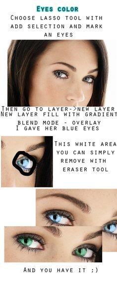 Eyes color - tutorial
