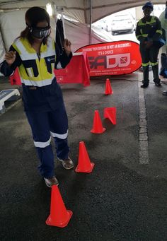 Drunk Busters Impairment Goggles used at a safety event in 2016.  Commonly called beer goggles