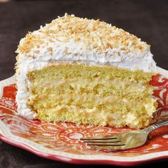 It's Rock Recipes 6TH ANNIVERSARY and I'm looking back at my favorite celebration cakes over the last 6 years. One of my personal best-loved choices is this Coconut Cream Cake; a light sponge cake with coconut cream filling, whipped cream and toasted coconut.