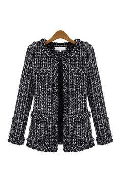 Goodnight Macaroon BLACK TWEED STRUCTURED COCO JACKET COCO CHANEL OLIVIA PALERMO