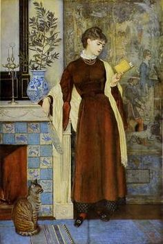 At Home, a portrait by Walter Crane, 1872