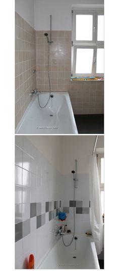Badezimmer neu gestalten Von alt zu neu in 4 Schritten - fliesenspiegel küche überkleben