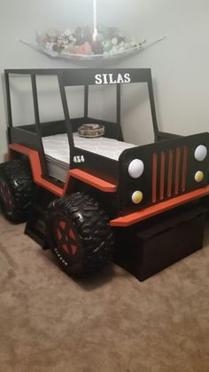 Jeep bed.