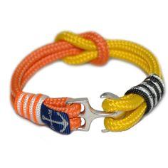 Orange and Yellow Nautical Bracelet by Bran Marion