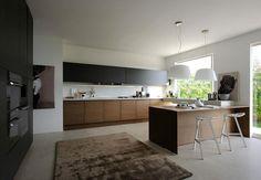 Изчистена кухня... минимализмът е възможен дори и в това претрупано от функции, уреди и предмети помещение