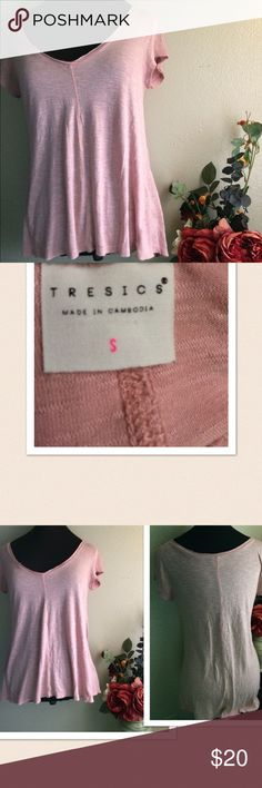 "🆕 Tresics High Low Top 🆕 Tresics High Low Top. Soft 💯% Rayon top. Color: Rose Pink. Size: Small. Pit-pit: 18.5"", length at front: 24"" at Back: 28"". New without tag. Tresics Tops Blouses"