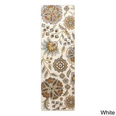 Hand-tufted Lily Pad Floral Runner Wool Area Rug (2' x 8' )