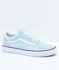 Vans Old Skool Baby Blue   True White Shoes b671024d9