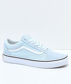 d72b73867f4b2f Vans Old Skool Baby Blue   True White Shoes