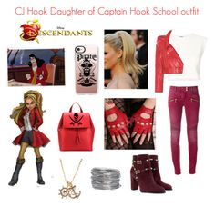 CJ Hook Captain Hooks Daughter Descendants by jafigueroa-1 on Polyvore featuring polyvore, Puma, Vetements, Balmain, Valentino, Aesther Ekme, Avenue, Casetify, Disney, fashion, style and clothing