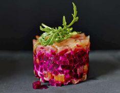 starter van zalm met rode biet en wasabi ... Wow
