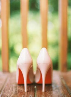 blush colored wedding shoes :)