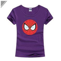 Spider-Man Logo Print T-Shirt Women Black Superhero T Shirt Spiderman Swag Tops Tee Teenage Kawaii Tshirt The Anime Clothing Cat Paw Print, Man Logo, Cat Paws, Cute Tshirts, Anime Outfits, Spiderman, T Shirts For Women, Lady, Mens Tops