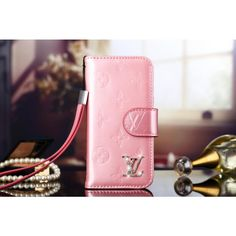 Fall 2014 Fashion Trends - Louis Vuitton iPhone 6 Plus leather Wallet Cases Authentic - iPhone 6 Covers  - Pink