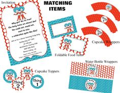 THING 1 and THING 2 Baby Shower Printable by owlalwaysloveuprints, $8.00