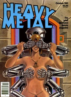 Heavy Metal magazine cover, 1981