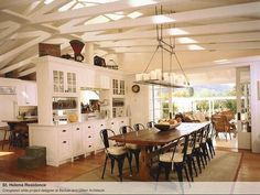 Love the openness and the ceilings!