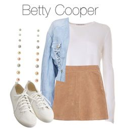 A fashion look from July 2017 featuring viscose tops, lace up jacket and flared mini skirt. Browse and shop related looks. Cute Comfy Outfits, Casual Outfits, Betty Cooper Outfits, Betty Cooper Riverdale, Riverdale Fashion, Character Inspired Outfits, Sophisticated Outfits, Teen Fashion Outfits, Teenager Outfits