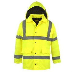 Visit us online and check out our huge range of jackets and coats, including work jackets, like this Dunlop Hi-Vis Parka! Bomber Coat, Parka Coat, Shirts & Tops, Langer Mantel, Waterproof Coat, Work Jackets, Jacket Style, Work Wear, Work Attire