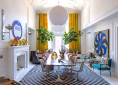 12 Swoonworthy Dining Rooms Youll Love Simon DoonanYellow CurtainsEclectic