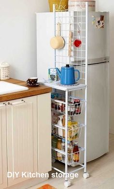 Kitchen Storage Ideas for Small Spaces  #kitchendiy #kitchenstorage