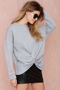 Nasty Gal Knot Hot Sweatshirt - Sweatshirts | Tops | All | Clothes |