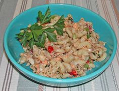 Always on the lookout for new pasta salads, I tried this one from Southern Living 1982 Annual Recipes . I used canned tuna and we t...